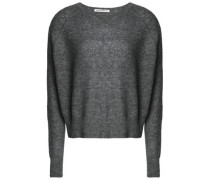 Marled cashmere and silk-blend sweater