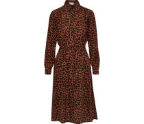 Gart Belted Leopard-print Silk Shirt Dress Animal Print