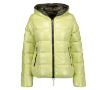 Thia quilted shell hooded down coat