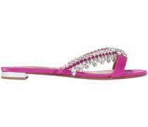 Woman Gem Palace Crystal-embellished Satin Slides Magenta
