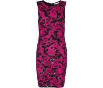 Nat sequin-embellished embroidered tulle mini dress