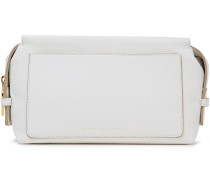 Woman Pebbled-leather Cosmetics Case White