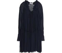 Gauze Mini Dress Navy