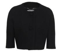 Woman Cropped Wool-blend Crepe Jacket Black