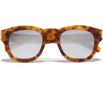 D-frame Tortoiseshell Acetate Sunglasses Light Brown Size --