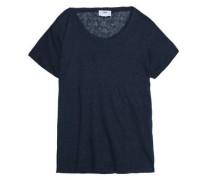 Linen slub-jersey top