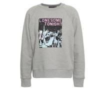 Printed Cotton-fleece Sweatshirt Gray