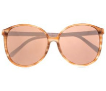 Cat-eye Printed Acetate Mirrored Sunglasses Rose Gold Size --