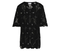 Embroidered modal top