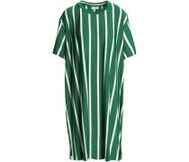 Striped metallic jersey dress