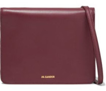 Woman Leather Shoulder Bag Plum