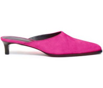 Woman Agatha Suede Mules Bright Pink