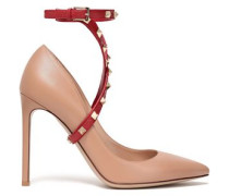 Rockstud Two-tone Leather Pumps Neutral