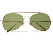 Spitfire aviator-style gold-tone sunglasses