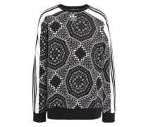 Printed French Cotton-terry Sweatshirt Black