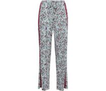 Printed Pima Cotton And Modal-blend Pajamas Mint