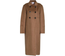 Silk and cashmere-blend coat