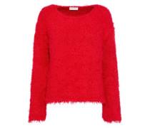 Frayed Silk Sweater Red