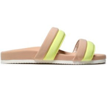 Two-tone Neoprene Slides Pastel Yellow
