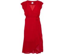 Wren ruffled chiffon wrap dress
