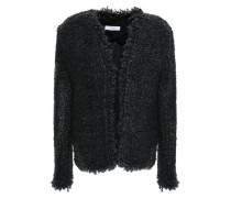 Frayed Bouclé Jacket Anthracite