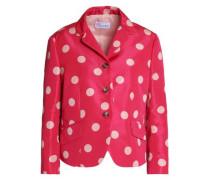 Polka-dot satin-faille jacket
