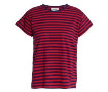 Striped cotton-jersey pajama top