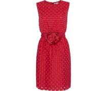 Embellished fil coupé organza mini dress