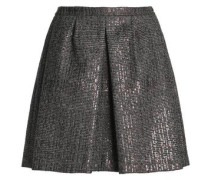 Sequin-embellished houndstooth wool mini skirt