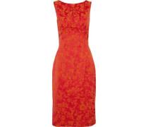 Satin-jacquard dress