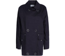 Double-breasted Cotton-gabardine Jacket Navy