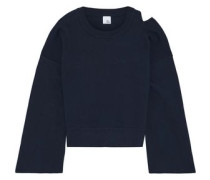 Nora Cutout Cotton Sweater Navy