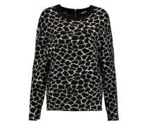 Printed stretch-knit sweater