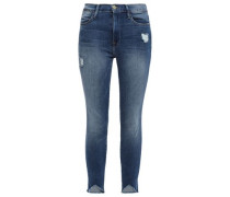 Distressed Mid-rise Skinny Jeans Mid Denim  5