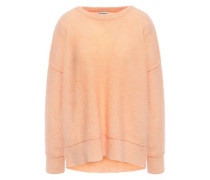 Brushed-knitted Sweater Peach
