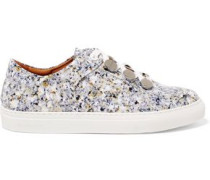 Resonance printed patent-leather sneakers