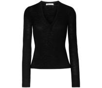 Ribbed Wool Top Black