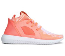Woman Tubular Defiant Primeknit, Neoprene And Felt Sneakers Peach