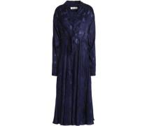 Fluted Fil Coupé Midi Shirt Dress Indigo