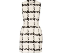 Houndstooth tweed mini dress