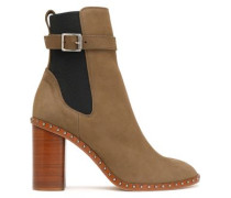 Romi buckled leather ankle boots