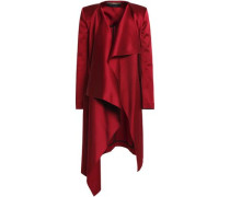 Draped satin-crepe jacket