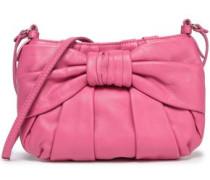 Bow-embellished Leather Shoulder Bag Bubblegum Size --
