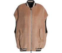 Reversible alpaca-felt bomber jacket