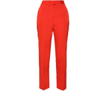 Faille Straight-leg Pants Bright Orange