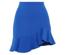 Marcella Ruffled Crepe Mini Skirt Cobalt Blue Size 0