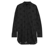 Broderie Anglaise Cotton Shirt Black
