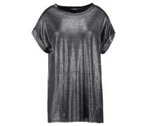 Metallic linen-blend lamé T-shirt