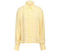 Gingham-jacquard Shirt Yellow