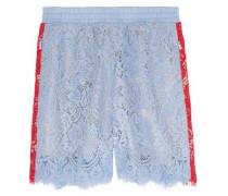 Embellished crocheted cotton shorts